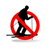 Freeride is not allowed. Vector prohibiting sign