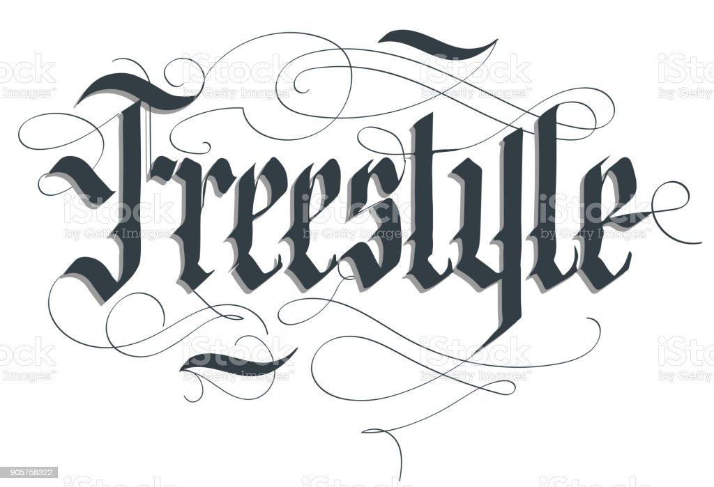 Freestyle lettering typography emblem, extreme sport t-shirt, bmx...