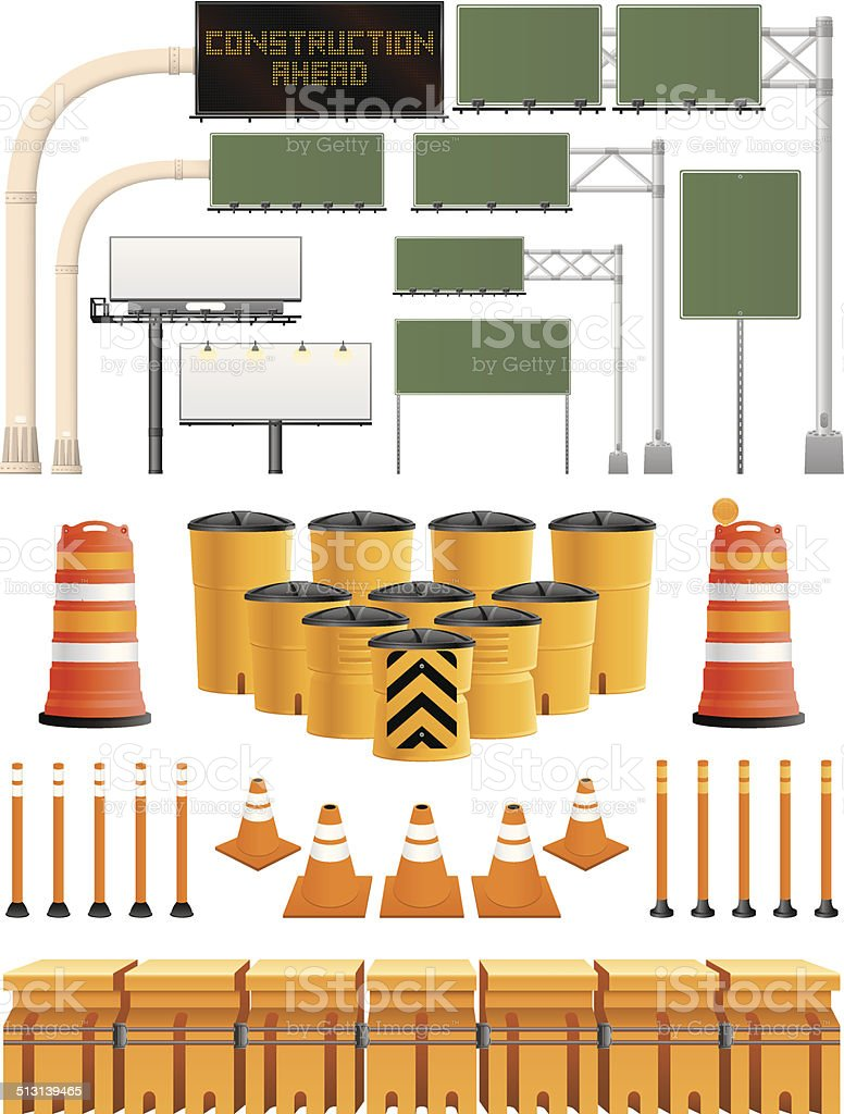 Freeway Collection vector art illustration