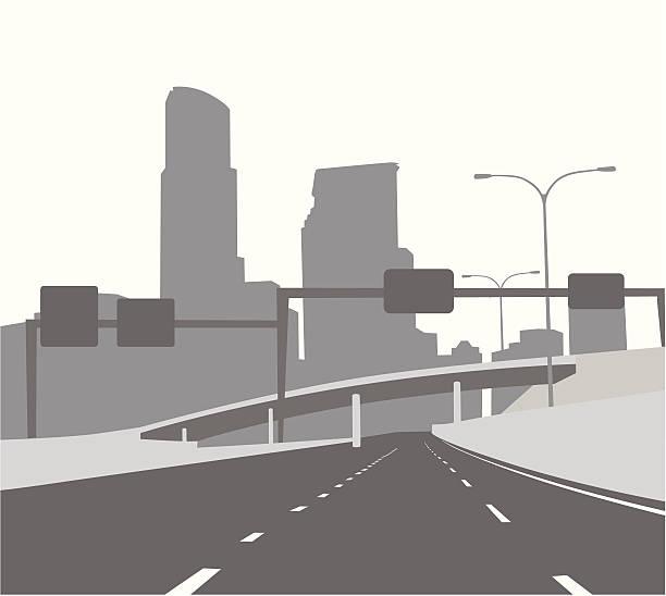 freewaygantry - straßenschilder stock-grafiken, -clipart, -cartoons und -symbole