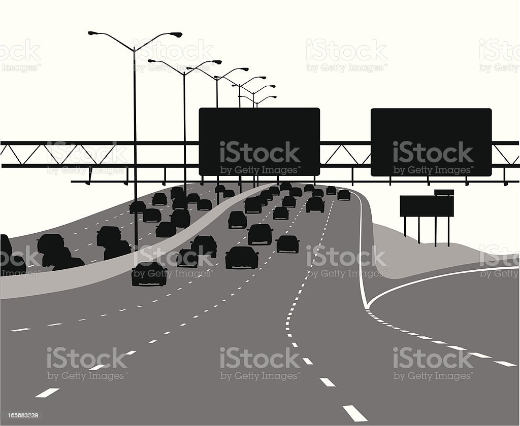 Freeway Vector Silhouette royalty-free stock vector art