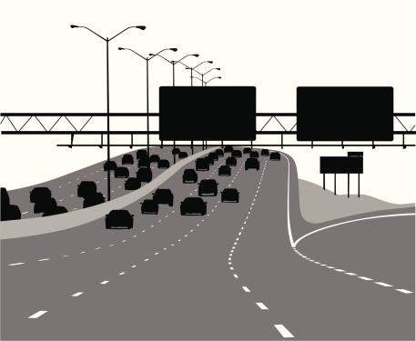 Freeway Vector Silhouette