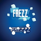 Freeze letters. ice concept - vector illustration