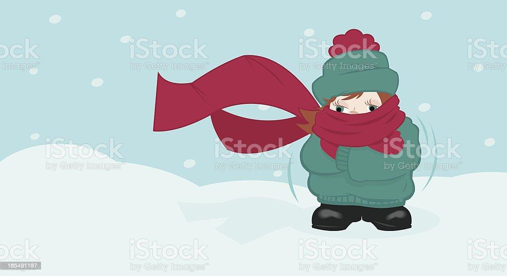 Freezing vector art illustration