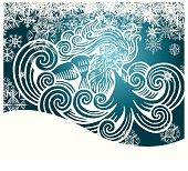 Freezing Winter Snow Storm Snowflake Background