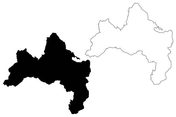 freiburg im breisgau city map - schwarzwald stock-grafiken, -clipart, -cartoons und -symbole