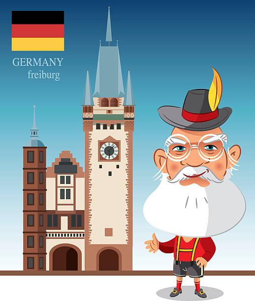 freiburg - schwarzwald stock-grafiken, -clipart, -cartoons und -symbole