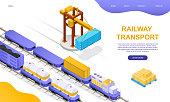 istock Freight rail transport concept 1281037900