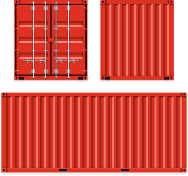 Freight shipping, cargo containers Vector illustration with transparent effect. Eps10. container stock illustrations
