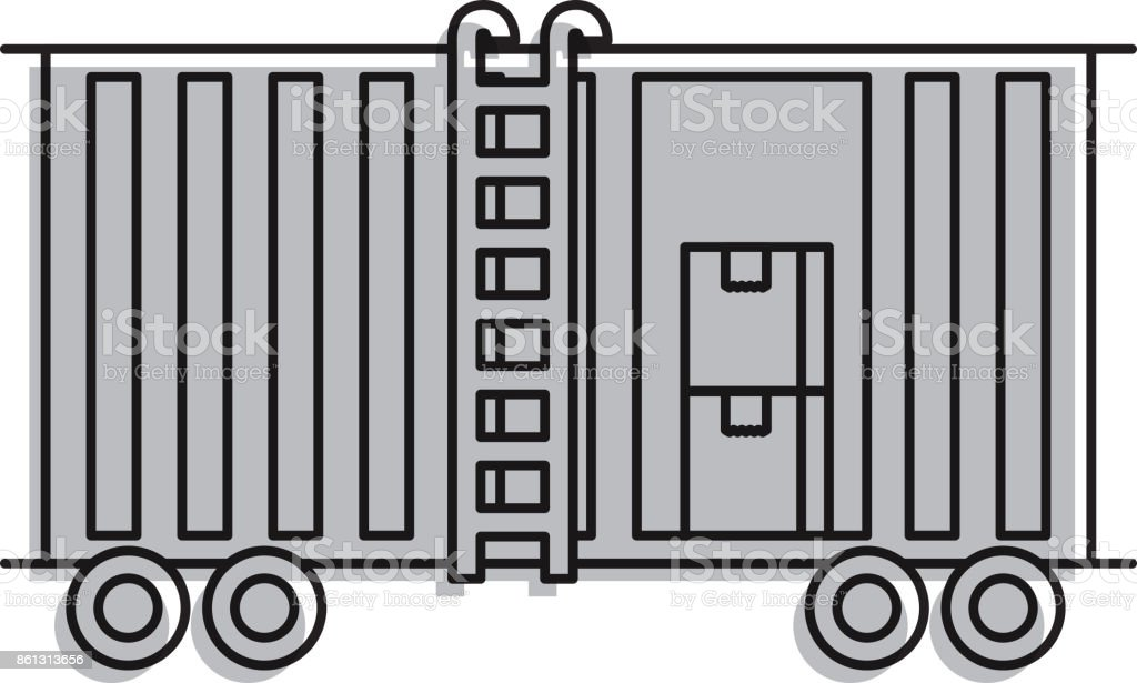 Freight Train Cargo Car Container And Boxes Logistics Transport