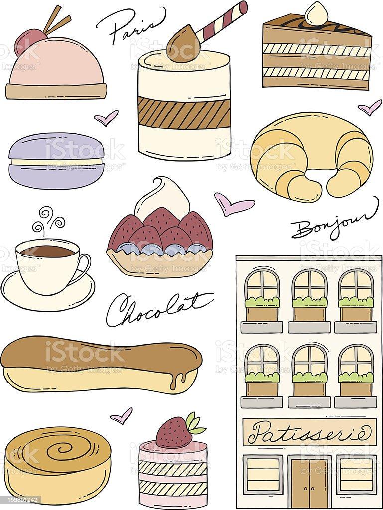 Ilustración de French Bakery Garabatos y más Vectores Libres