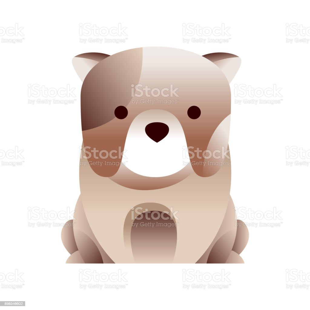 ilustração de cachorro de buldogue francês estilizado vetor de