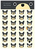 French bulldog emoji icons