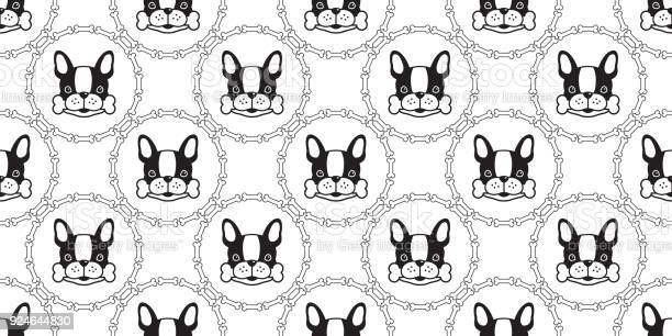 French bulldog seamless pattern dog bone vector isolated wallpaper vector id924644830?b=1&k=6&m=924644830&s=612x612&h=pq9gblmpp0udkmovu6neqxvzykjngcfy1ifjdd8txke=