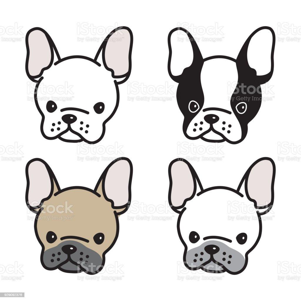ilustração de buldogue francês vector cão ícone cachorro ilustração