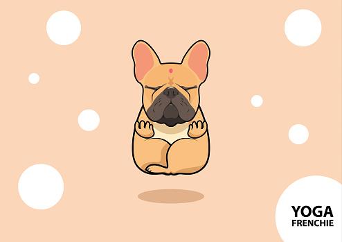 French Bulldog Yoga Style.