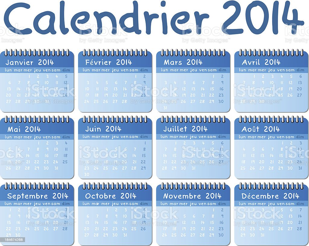 french calendar 2014 royalty-free french calendar 2014 stock vector art & more images of 2014