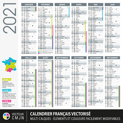 French calendar 2021