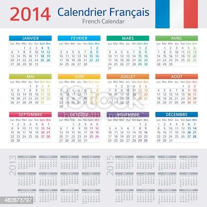 istock French Calendar / Calendrier Français 2014 482673797