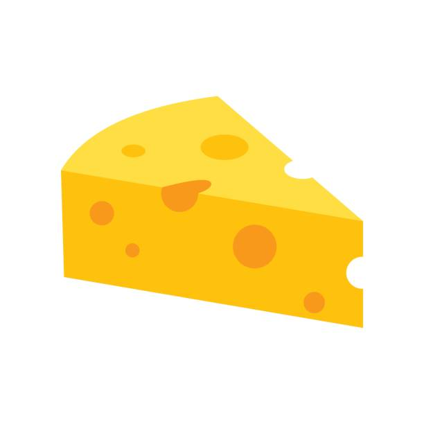 illustrazioni stock, clip art, cartoni animati e icone di tendenza di french cheese icon, flat style - formaggio