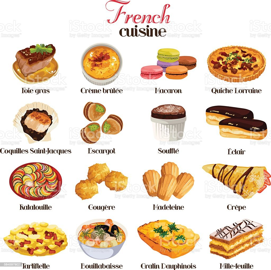French Cuisine Icons Stock Illustration - Download Image ...