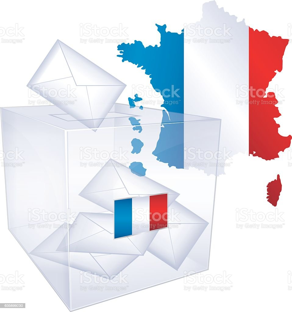 French elections. vector art illustration