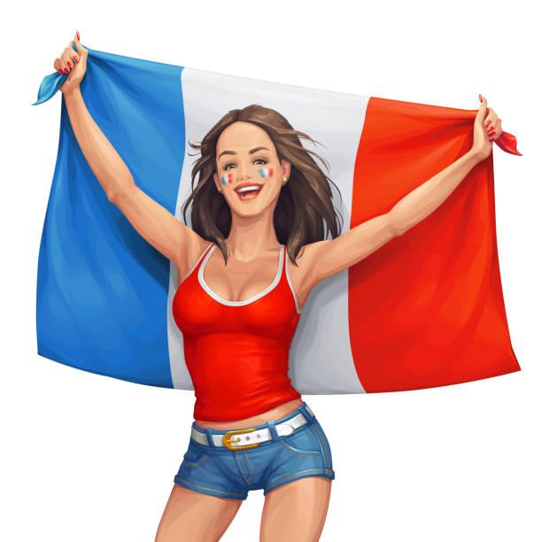 French Fangirl vector art illustration