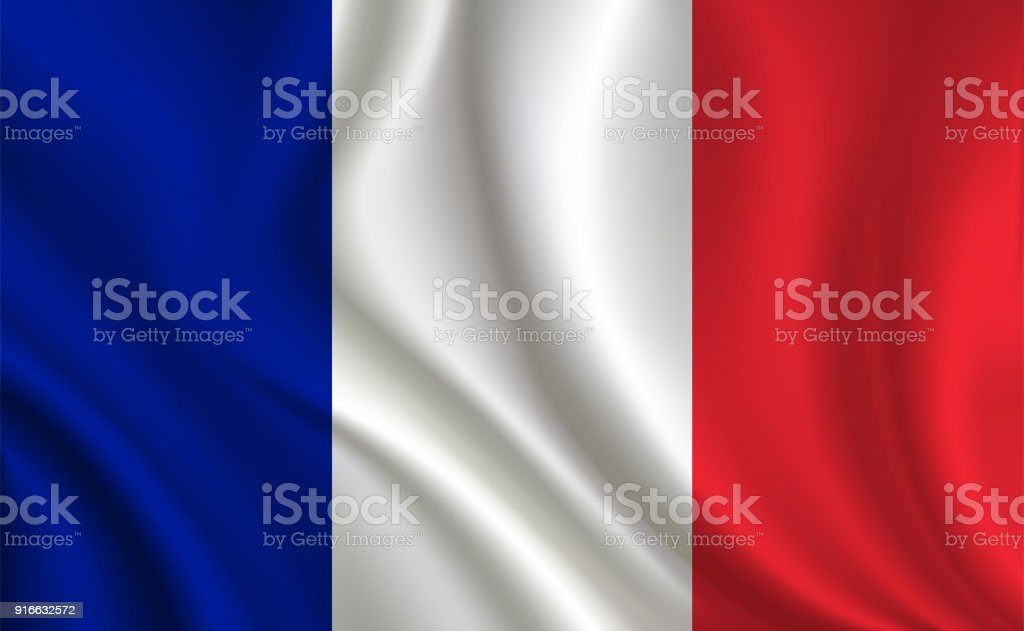 French flag background vector art illustration