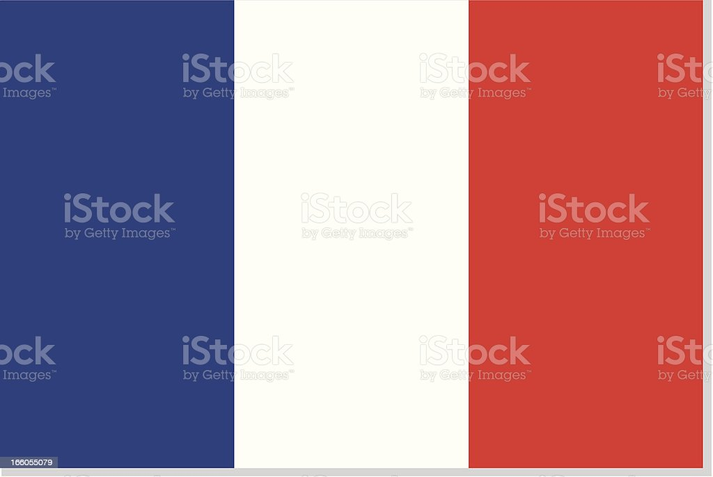 french flag or france vector art illustration