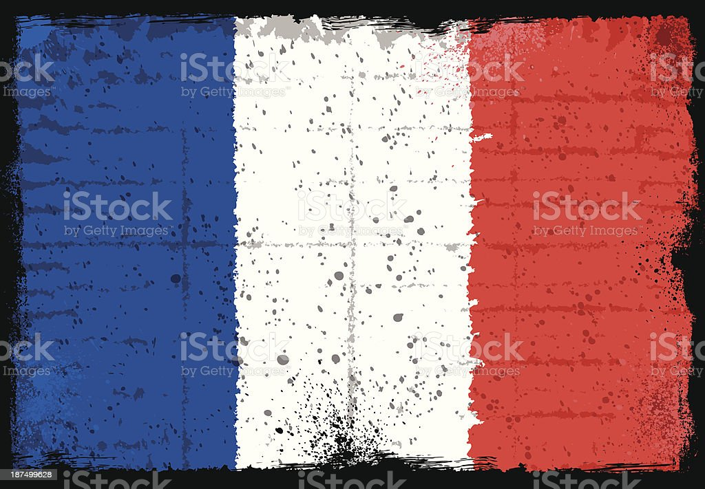 French flag royalty-free stock vector art