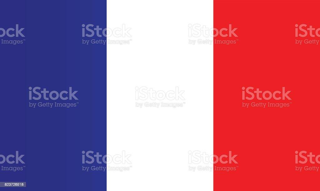 Bandera francesa - ilustración de arte vectorial