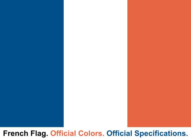 フランスの旗 (公式色と公式仕様) ベクターアートイラスト