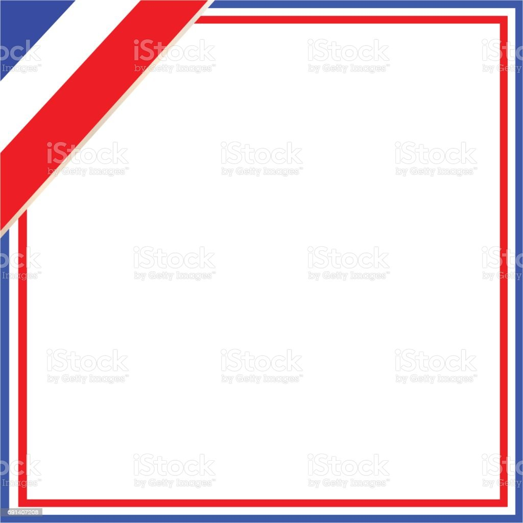 french flag wave patriotic frame stock vector art 691407208 istock