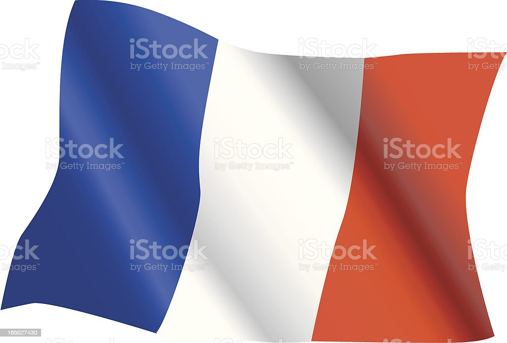 French flag waving (vector) royalty-free french flag waving stock vector art & more images of blue