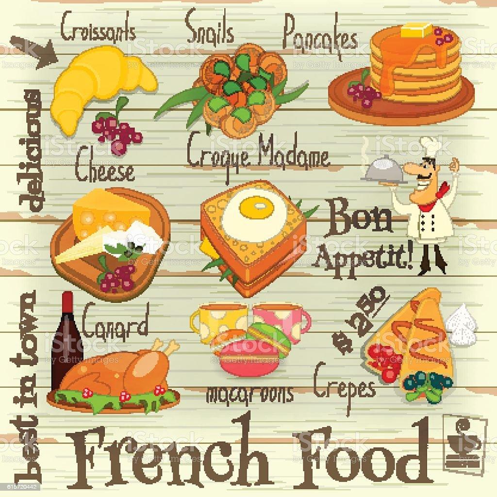 Cuisine fran aise la carte stock vecteur libres de for Cuisine a la carte
