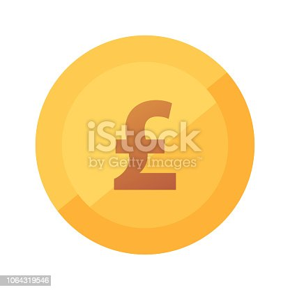 French Franc coin icon - flat vector illustration with sign of Franc isolated on white.