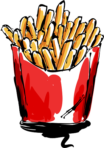 French fries Drawing