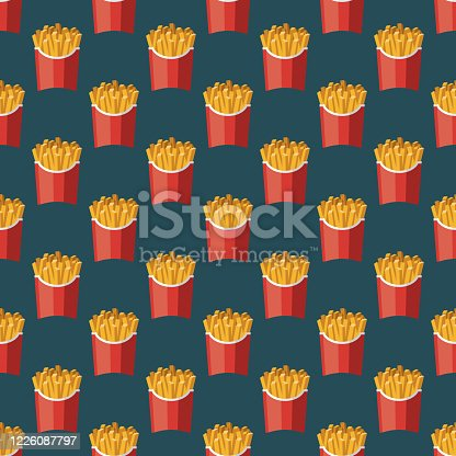 istock French Fries Pattern 1226087797