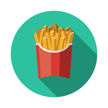 French Fries Processed Food Icon