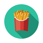 istock French Fries Processed Food Icon 1213557368