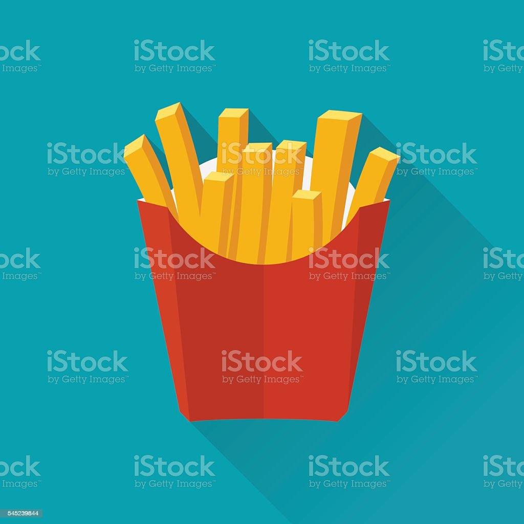 French fries. Vecto - ilustração de arte em vetor