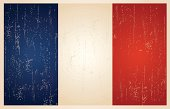 French flag in grunge and vintage style.