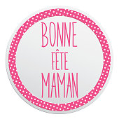 French Happy Mother's day card full vector elements