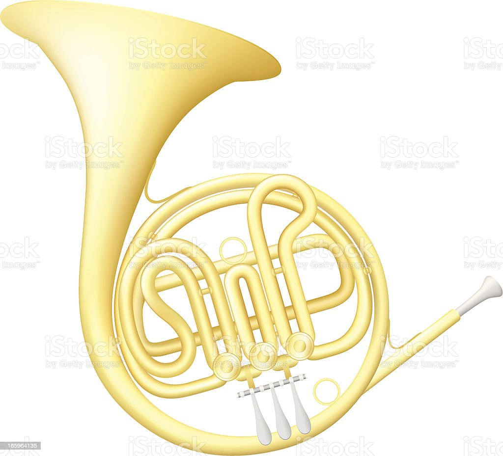 French Horn royalty-free stock vector art