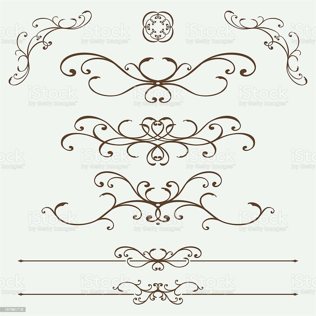 French Ironwork vector art illustration