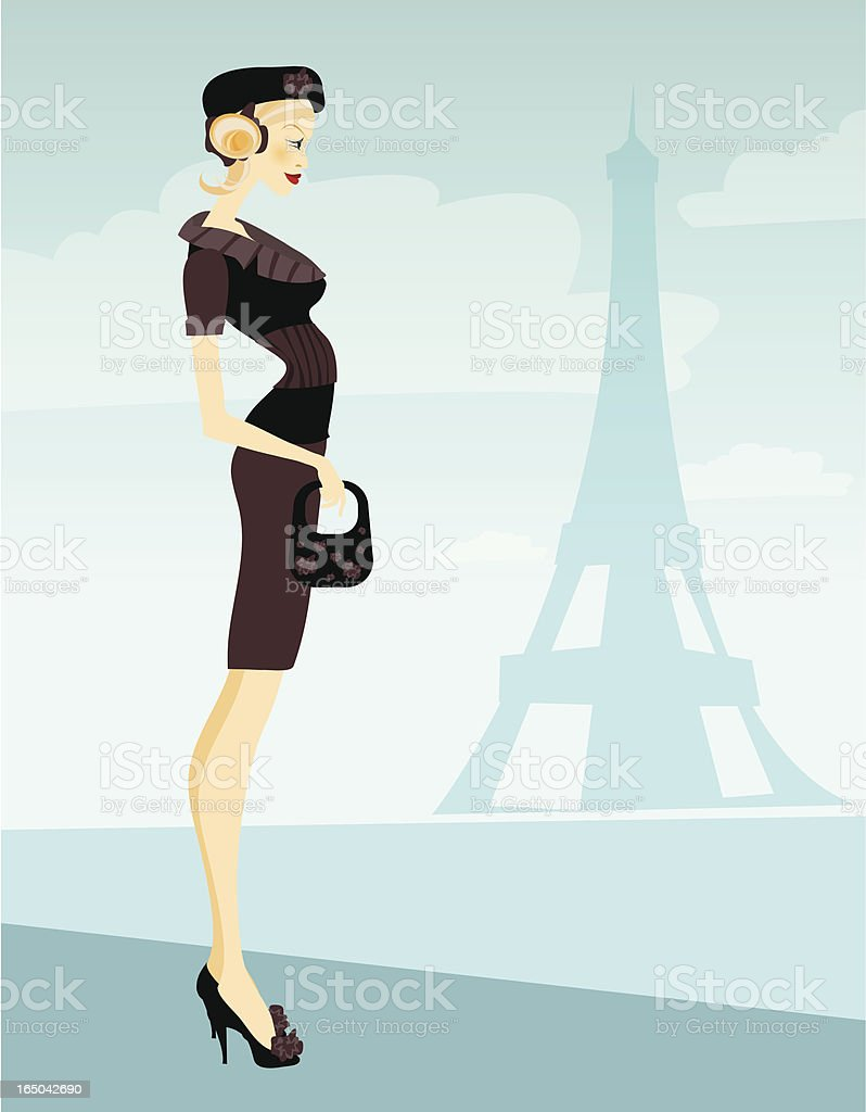 French mademoiselle royalty-free stock vector art