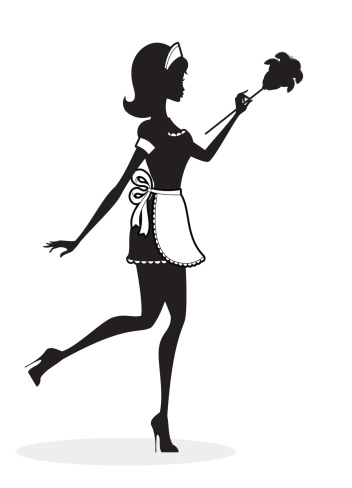 French Maid Stock Illustration - Download Image Now