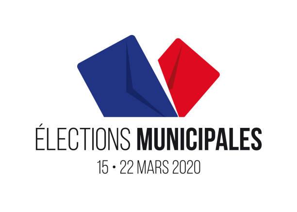 ilustraciones, imágenes clip art, dibujos animados e iconos de stock de elecciones municipales francesas de 2020 - polling place