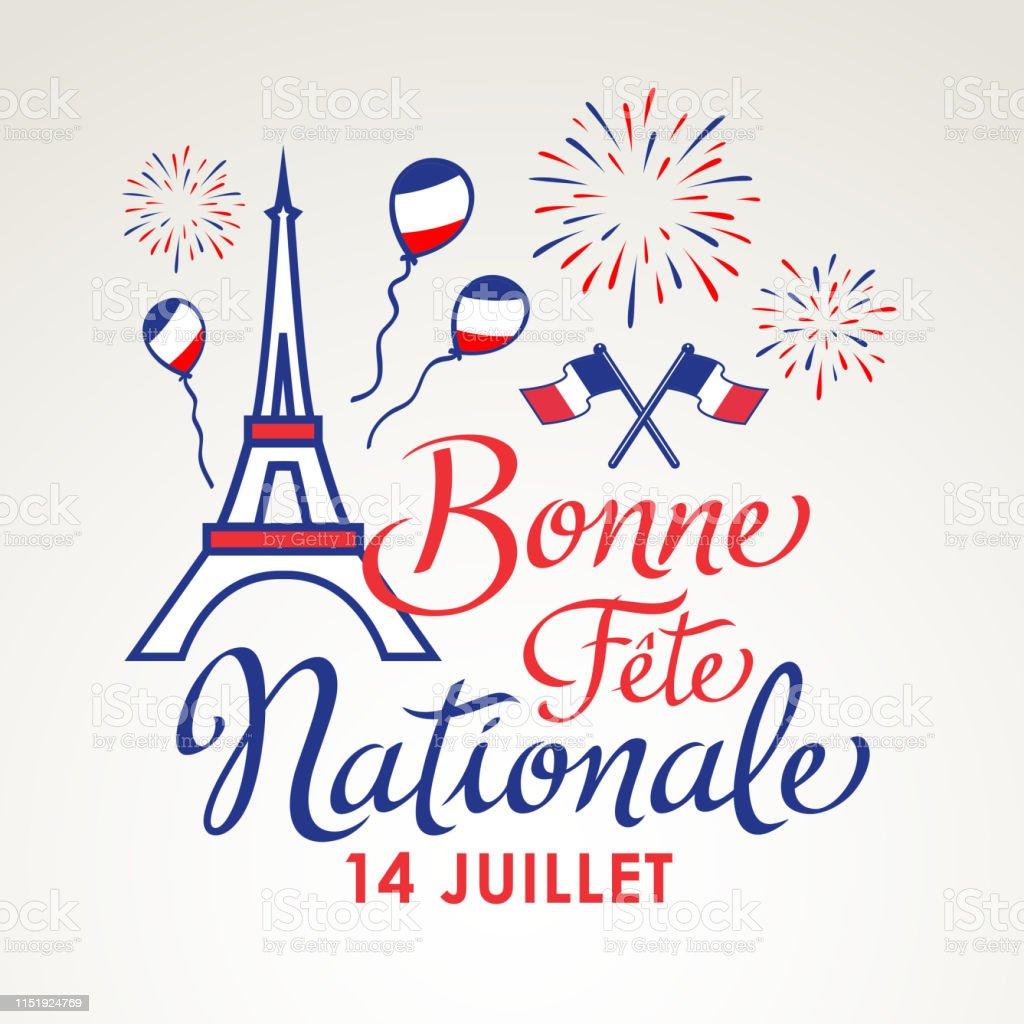 Célébration De La Fête Nationale Français Vecteurs Libres De Droits