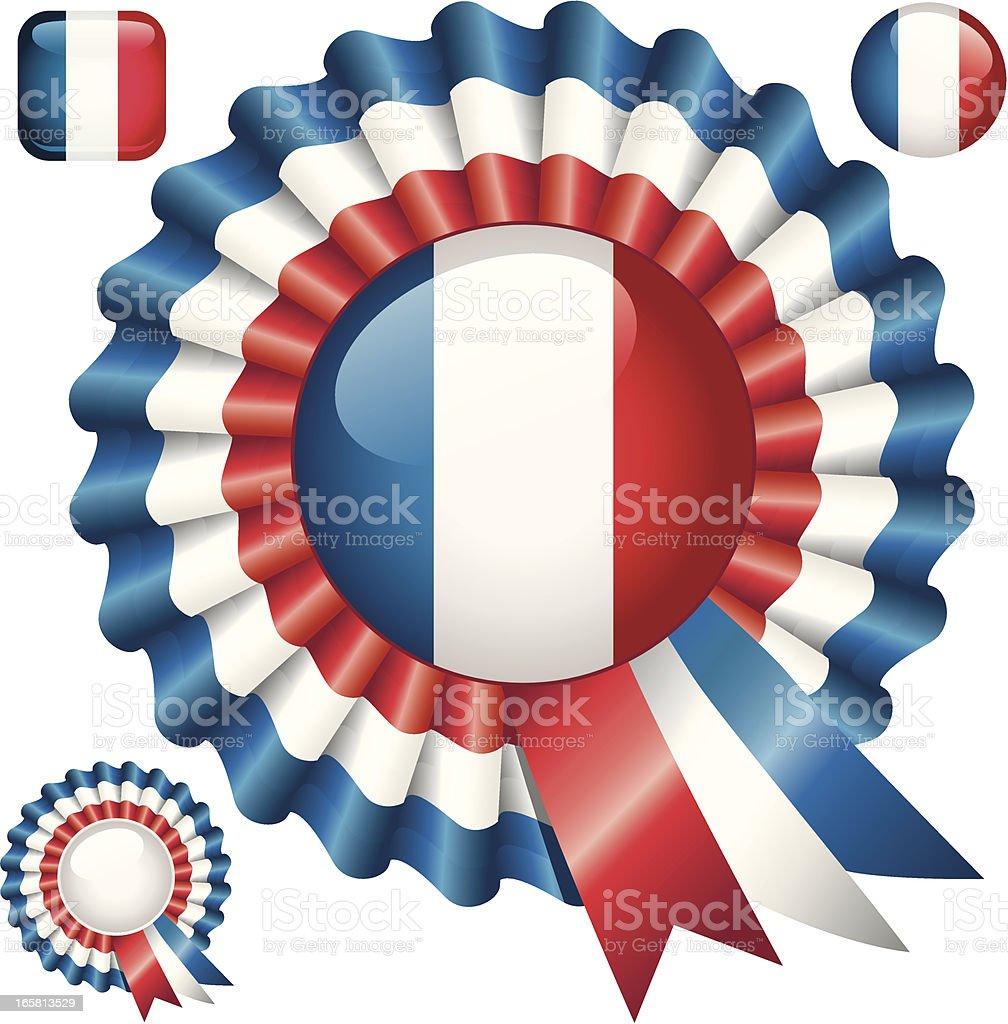 French Rosette vector art illustration